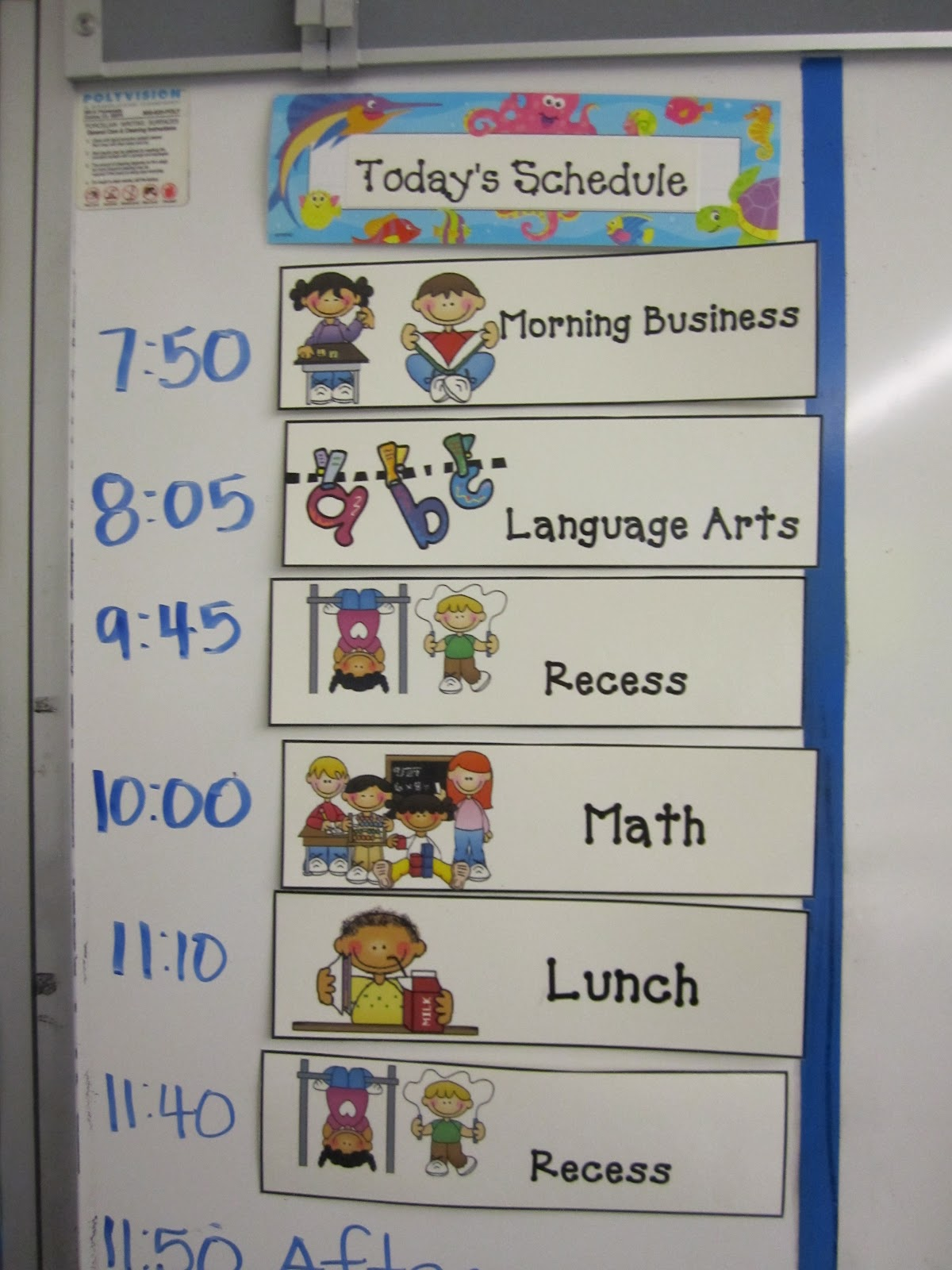 Teaching In Paradise Daily Schedule Cards And Updated