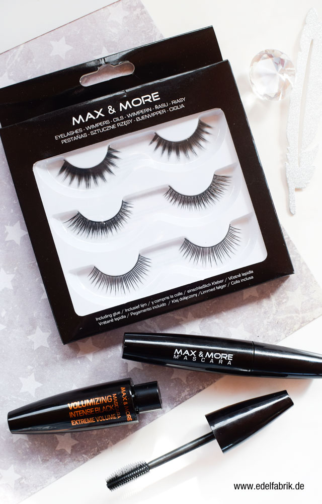 die Edelfabrik, Review der Marke Max + More Mascara, Fake Lashes