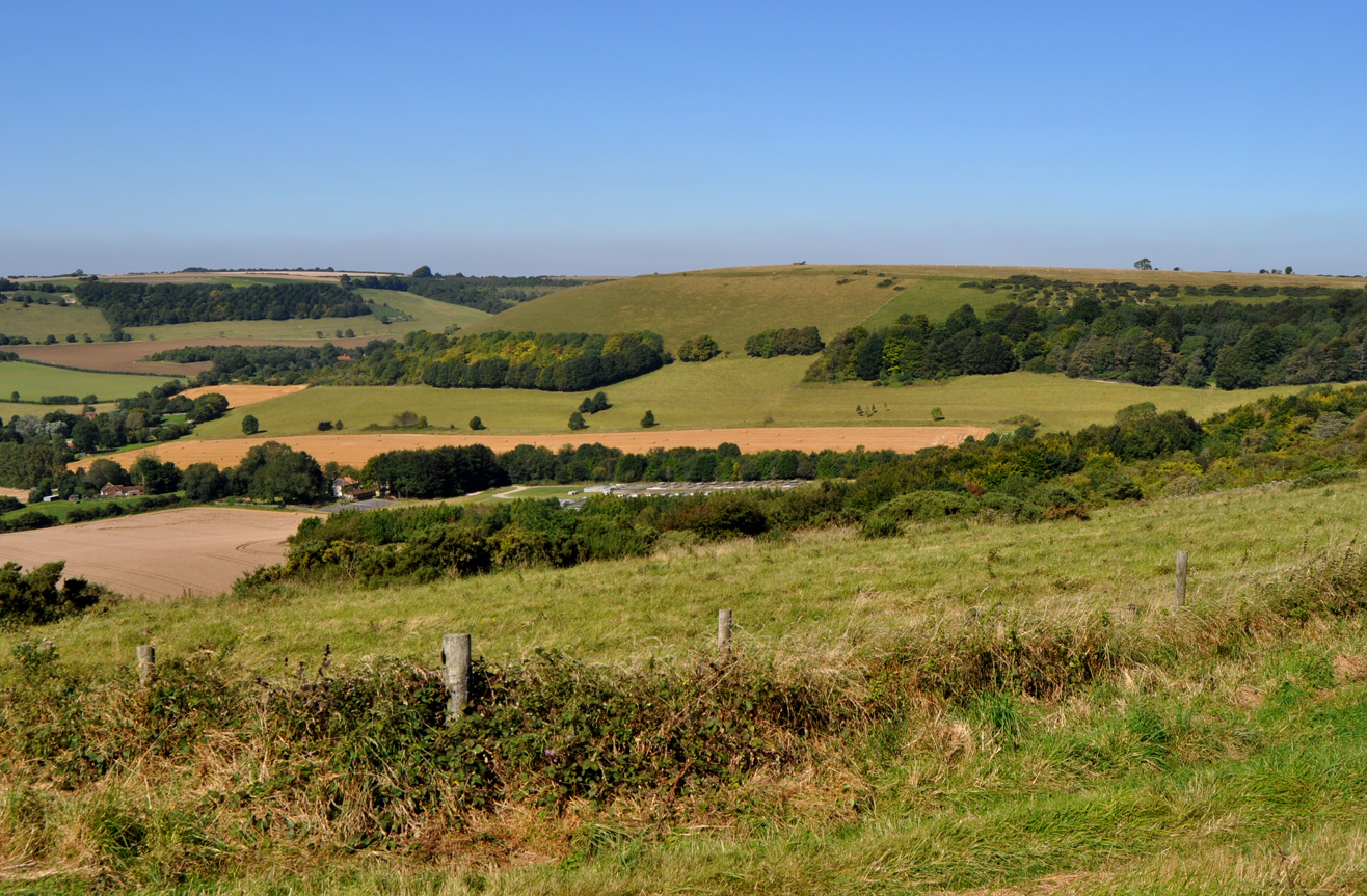Highest Points: 4 - Walbury Hill, Berkshire - 7th Sept 2012