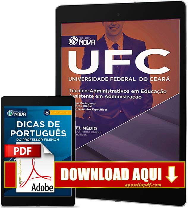 Apostila UFC 2016 PDF Download Assistente em Administração