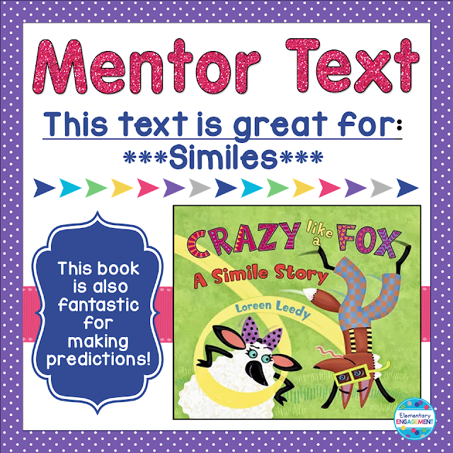 This post shares an awesome mentor text for similes!