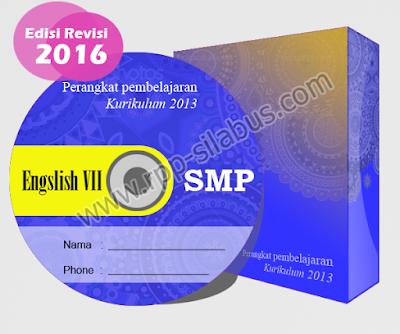 Jual RPP Bahasa Inggris Kelas VII SMP Kurikulum 2013 Edisi Revisi 2016