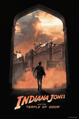 """Indiana Jones and the Temple of Doom """"Doorway to Adventure"""" Screen Print by Hans Woody x Bottleneck Gallery"""