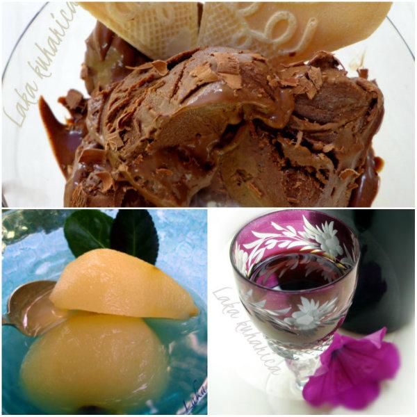 Popis recepata Lake kuharice  za domaće sladolede, deserte i pića.
