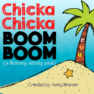 Chicka Chicka Boom Boom letter learning activities for Kindergarten