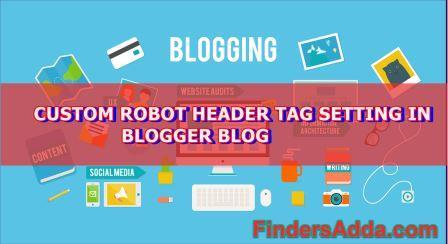 custom robot header tag setting