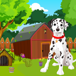 Games4King Cute Dalmatian Dog Rescue Walkthrough