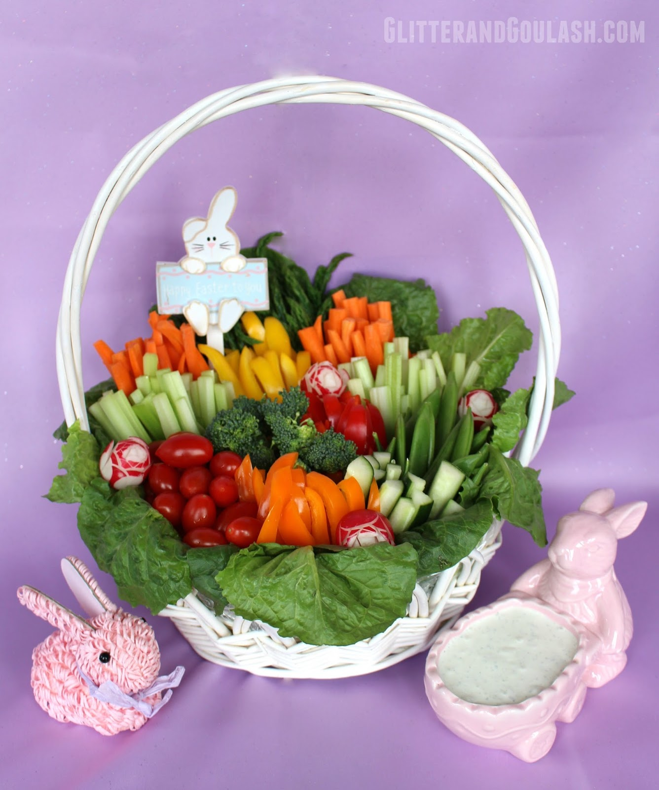 Easter basket relish tray glitter and goulash looking for a fun and easy way to jazz up the same old relish tray for easter negle Images