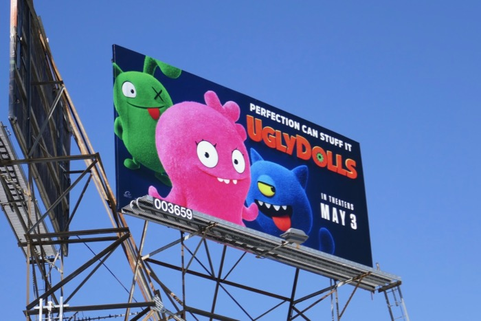 UglyDolls movie billboard