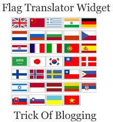 Add | Put 50 Flag Translator Widget | Gadget On Your Blogger Blogspot