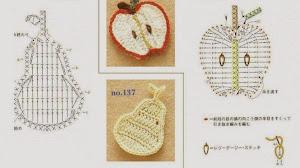 Apliques con forma de frutas