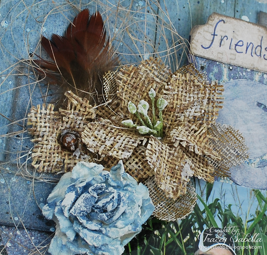 Life is Good by Tracey Sabella for Donna Salazar, handcrafted flower, masculine
