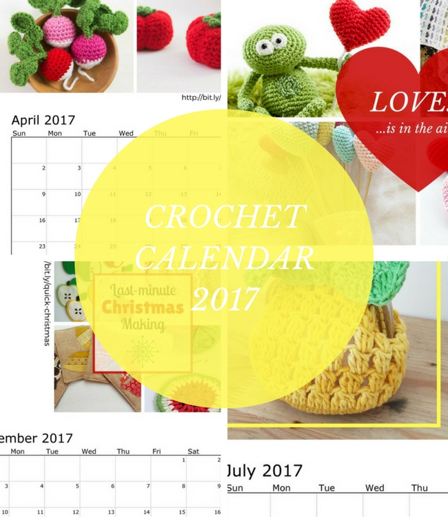 Crochet Calendar 2017 | Happy in Red