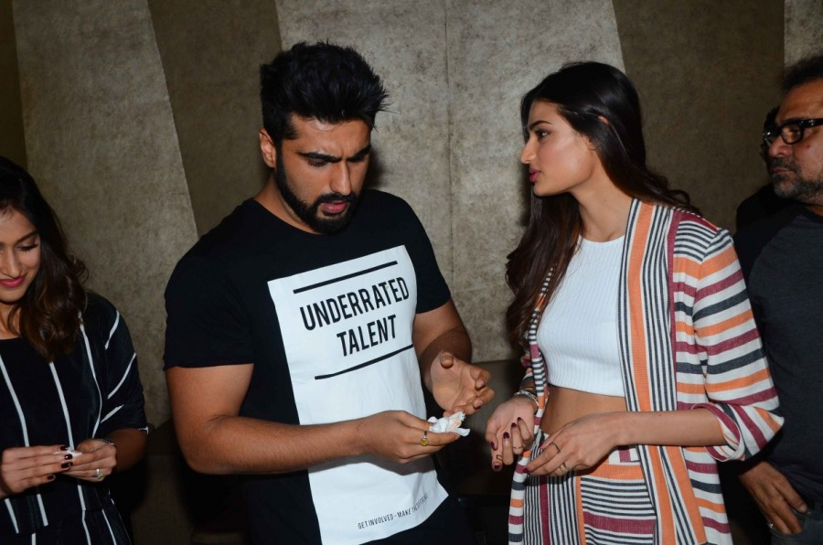 Arjun Kapoor Celebrates His Birthday During The Promotion of Film Mubarakan