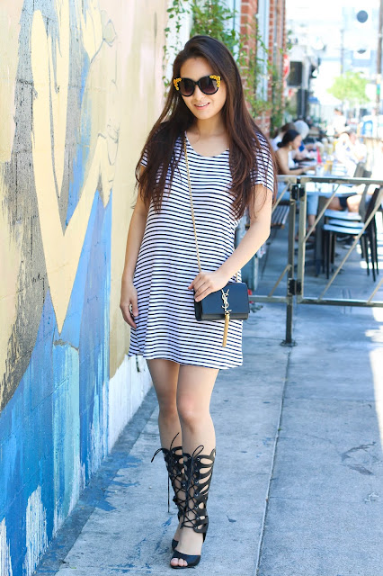 charlotte russe striped mini dress