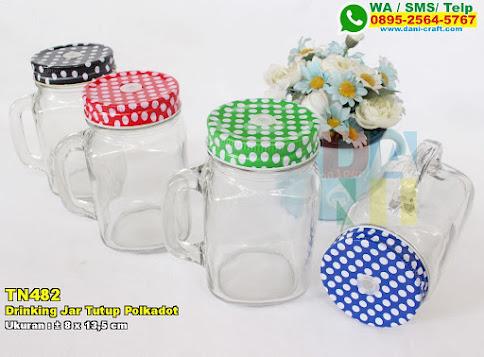 Drinking Jar Tutup Polkadot
