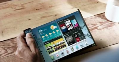 سامسونج  تطور هاتفاً ذكياً ثنائي الشاشة يستخدم شاشة مسطحة