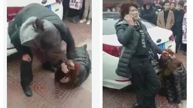 Istri Sah Hajar 'Pelakor' di Jalanan, Lalu Telpon Suaminya, Simak Kalimat yang Dia Katakan