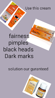 Fairness cream, pimples cream