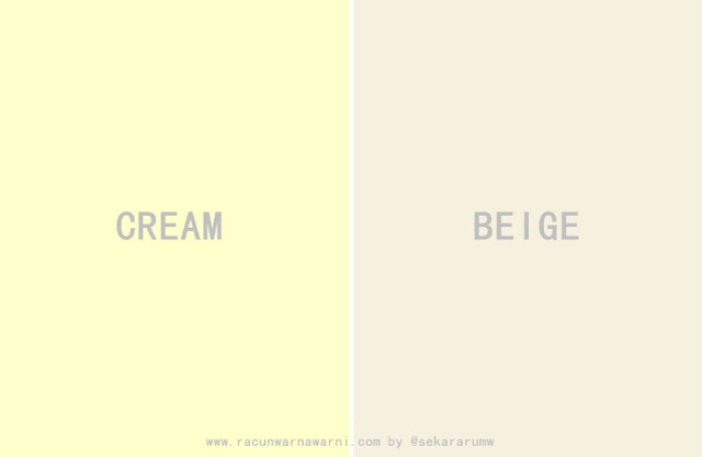 Cream vs Beige