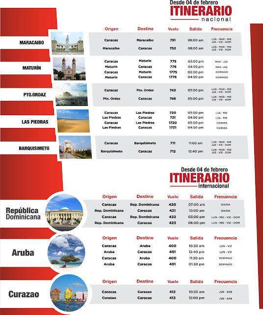 Nuevo itinerario de vuelos nacionales e internacionales de Aserca Airlines. Nuevos horarios de rutas nacionales e internacionales de Aserca Airlines
