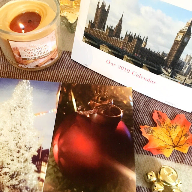 Tesco calendar and photo blocks - autumn flatlay