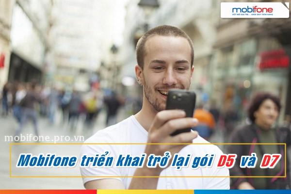 Mobifone mở đăng ký lại gói 3G ngày D5 và D7