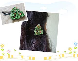 free crochet xmas inspired motif, free crochet christmas tree motif, free crochet hairpin pattern