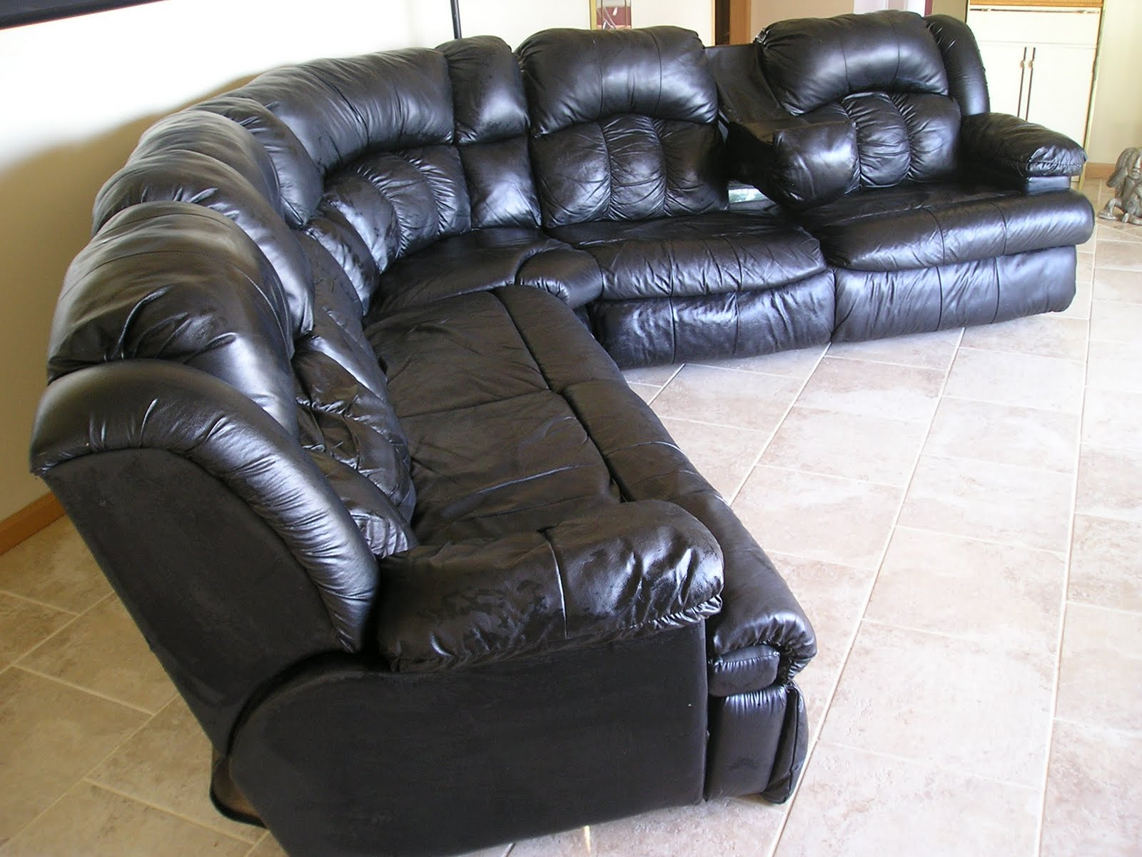 Black Leather Sectional Couch Black Leather Sectional For