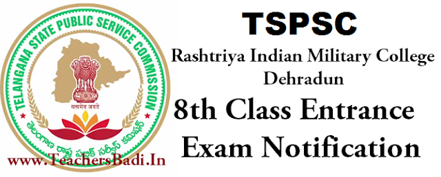TSPSC, RIMC 8th Class,Entrance Exam 2016