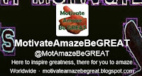MotivateAmazeBeGREAT twitter profile regarding a selection of inspirational quotes voted by twitter followers