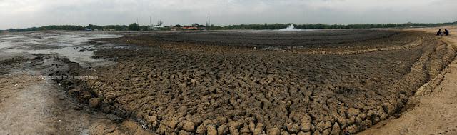 Panorama view Bledug Kuwu di Kabupaten Grobogan.