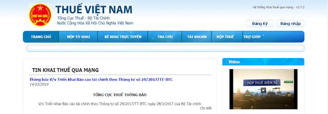 Nộp tờ khai thuế qua mạng noptokhai kekhaithuequamang