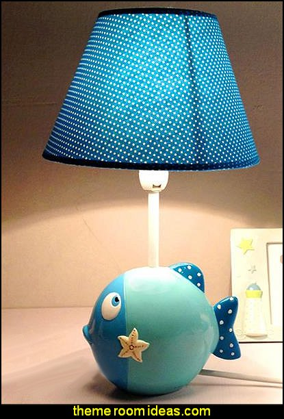 Sea Fish Design Nursery Table Lamp
