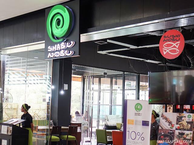 Tampak Depan Shabu Nobu (Sushi Nobu) Bintaro Jaya Xchange