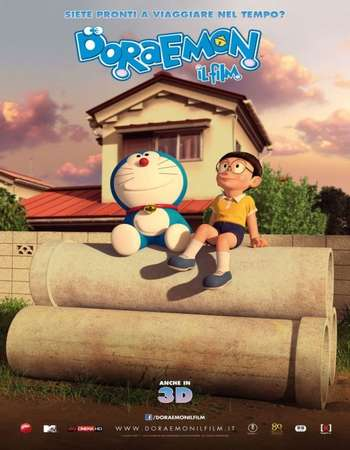 Poster Of Stand by Me Doraemon 2014 Dual Audio 130MB BRRip HEVC Mobile ESubs Free Download Watch Online Worldfree4u