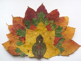 turkey craft thanksgiving leaf art
