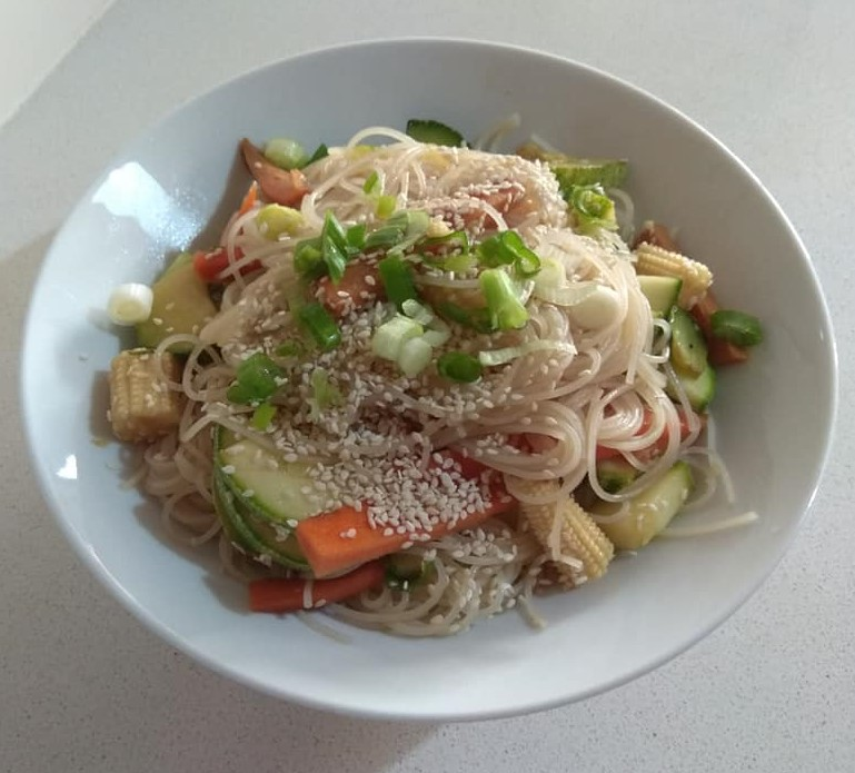 Lo Mein Noodle Salad Recipe Gluten Free Vegan Delicious And Easy Penniless Parenting