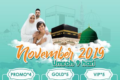 Paket Umroh 9 hari Bulan November 2019