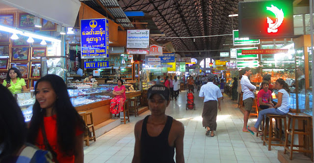 Bogyoke Market Yangon main Hall
