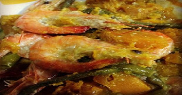 Ginataang Hipon, Sitaw, At Kalabasa Recipe