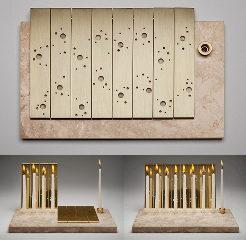 JML Menorah by Amy Reichert: