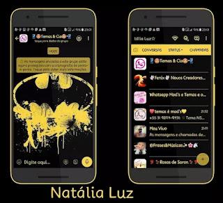 Batman Theme For YOWhatsApp & Fouad WhatsApp By Naty
