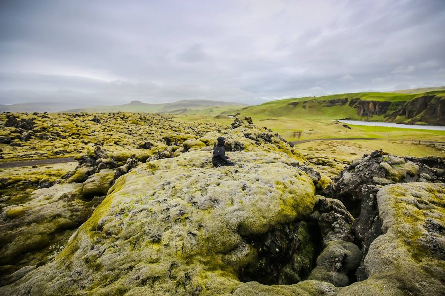 Looked at incredibly green fields in Iceland… - We Visited Over 50 Countries With Our Van Spending Only $8 A Day