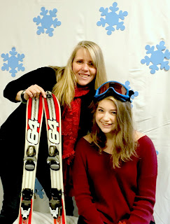 Snow and ski themed photo shoot.