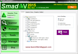 Open Smadav Pro 2015 v10.0 free version.