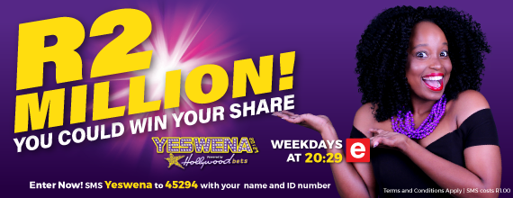 YesWena 20:29 - Click Here - Win your share of R2 Million in Cash Prizes. Tune into ETV tn January 2018.