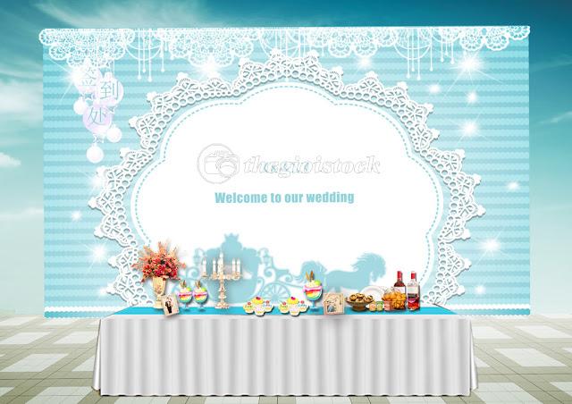 Vector Phông trang trí tiệc cưới hỏi file psd.