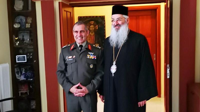 Εθιμοτυπικές επισκέψεις του νέου Διοικητή της 12ης Μεραρχίας Πεζικού Υποστράτηγου Άγγελου Χουδελούδη