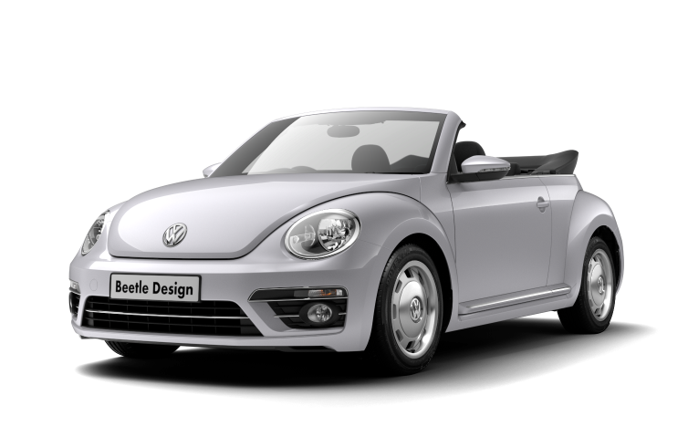 coccinelle cabriolet white silver